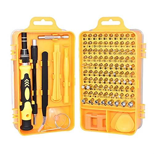 ZHOUCHENPQ Herramientas 50/115 en 1 Set de Destornillador Multifuncional para teléfonos celulares Desmontaje Gafas de Reloj Herramientas eléctricas Kit (Color : Gray 115 in 1)