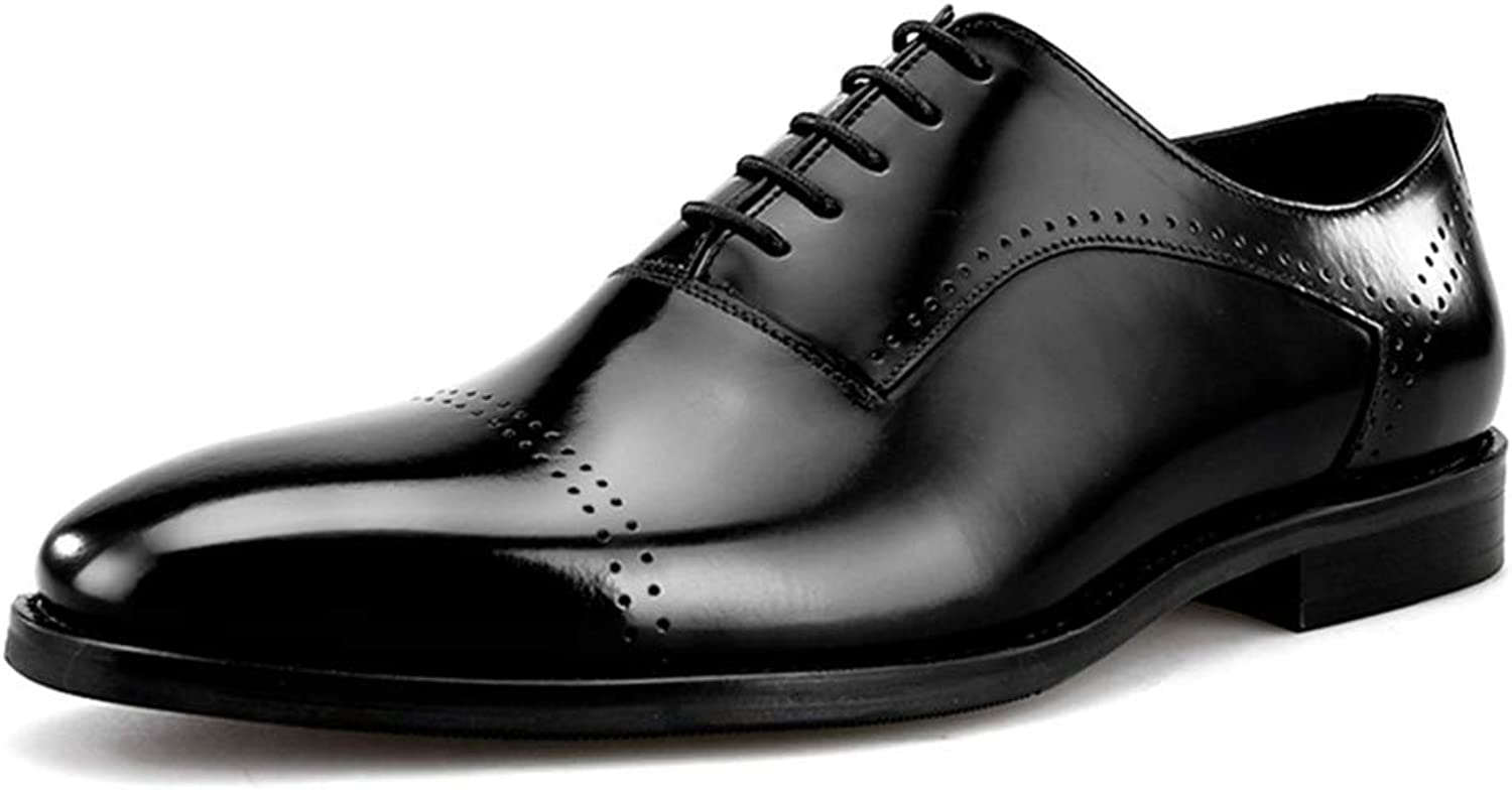 Men's Leather shoes Lace-Up Oxfords Wedding Smart Formal Pointed Toe Party Evening Loafers shoes