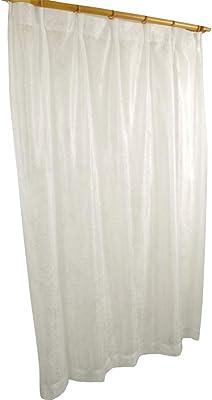 アーリエ レースカーテン 2枚組 リーフ柄 洗える ミラーレース エッセンス ホワイト 幅100cm×丈133cm 567851