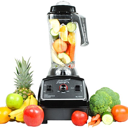 New Age Living Quiet Series 3.5HP Smoothie Blender – 68oz BPA-Free Unbreakable Tritan Jar – Perfectly Blends Frozen Fruits, Vegetables, Ice – Make the Perfect Smoothies at Home with Less Noise - Bla