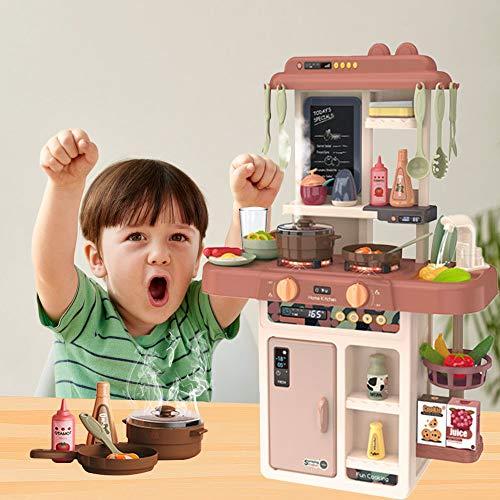 Arkmiido Juego de Cocina Juego de Cocina para niños Juego de Cocina Sonido y luz Agua en Aerosol Juguetes de Cocina para niñas de 3 años Niños