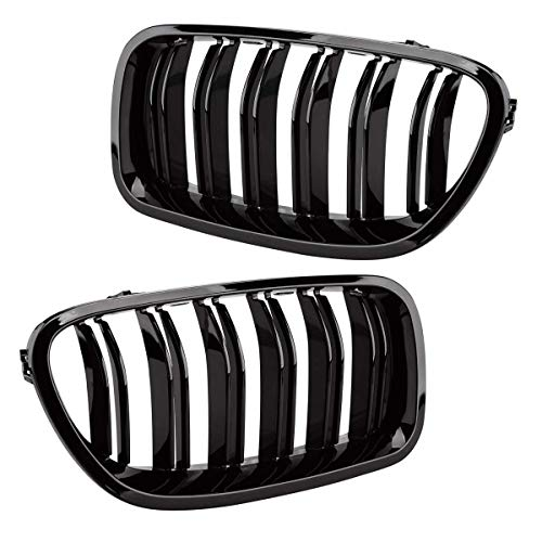 Glossy Black Front Bumper Hood ABS Plastic Grille for 2011-2016 BMW F10 F11 5-Series Sedan Wagon BMW 520 528 530 535 550 M5 Kidney Grille