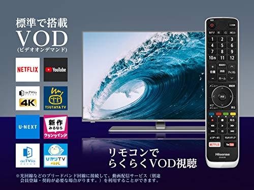 『ハイセンス Hisense 50V型 液晶 テレビ 50A6500 4K 動画アプリ対応 直下型LED』の3枚目の画像