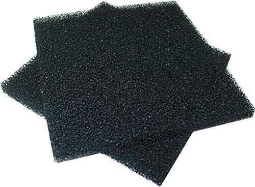 2 Stück Aktivkohlefilter, 130x130x10mm, Luft, Wasserfilter, Rauchabsorber AS14