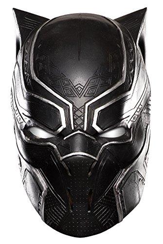 Rubie's Men's Captain America: Civil War Black Panther Full Vinyl Mask, As Shown, One Size