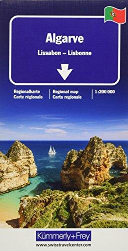 Algarve, Lissabon Regionalkarte 1:200 000