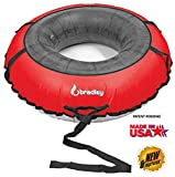 Bradley Multi-Rider Snow Tube with 60' Red Cover | Heavy Duty Snow Tube | Truck Tube