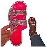 Sandali Open Toe Da Donna Scarpe Pantofole Basse Da Esterno Flat Spiaggia Piscina Aperte Mare Leggere Sandali Ciabatta Bassa Infradito Infradito da Spiaggia Pantofole Da Donna