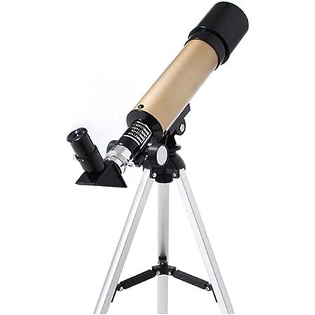 Telescopios Astronómico para Niños Refractores con Trípode Ajustable 2 Oculares 2 Tipos Y 3 Colores para Niños Principiantes Astronomía Observación De Estrellas (Color : 36050-Gold)
