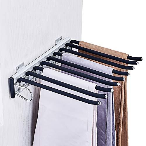 Porte-pantalon Alliage d'aluminium Télescopique Chargement latéral Multifonction Ménage À l'intérieur de l'armoire Porte-pantalon suspendu Porte-pantalon ( Couleur : A , taille : 35*32.6*7.6cm-a )