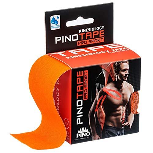 Pinotape Pro Sport ® - das Original - kinesiologisches Tape verschiedene Farben und Designs 5 cm x 5 m- besonders hautverträglich - Kinesiologie - Physio-Tape (Orange)