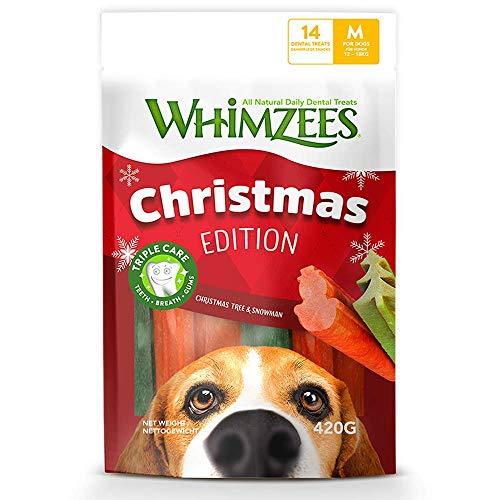 Whimzees Weihnachtsformen Natürlicher Zahnpflegesnack Für Hunde, Gr.M Stück à 15g