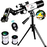 Gskyer Telescope, 60mm AZ Refractor Telescope, German Technology Travel Scope (Cell Phone Holder NOT included)