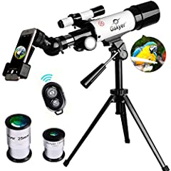 【Ultra - Clear Telescope】With 350mm focal length and 60 mm aperture to capture more light picture and optical glass coated for enhanced image brightness to protect your eyes. 【High Quality Optics】The interchangeable two eyepieces with a 3x Barlow len...