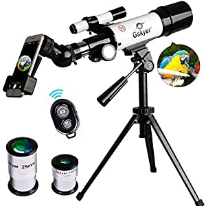 Gskyer Telescope, 60mm AZ Refractor Telescope, German Technology Travel Scope