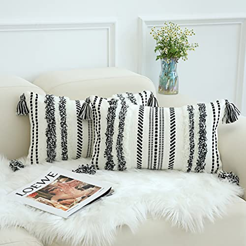 decorUhome Set di 2 federe per cuscini da divano, in stile boho, per divano, soggiorno, camera da...