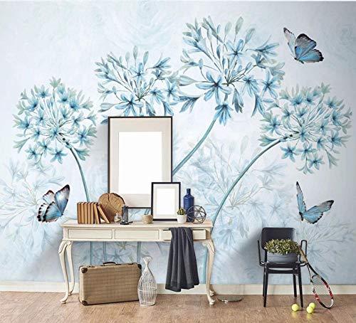MKmd-s 3D Mural Waterproof Creative, Modern Minimalist Retro Flowers Nordic Three-Dimensional Flowers Butterflies