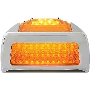 Grand General 77234 Amber Spyder 42-LED Peterbilt Headlight Turn Signal Sealed Light with Chrome Bezel