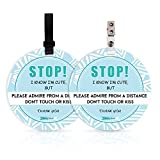 No Touching Newborn Baby Car Set Sign or Stroller Tag,...