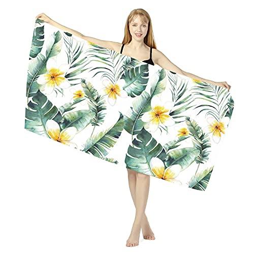 Asciugamano da Spiaggia in Microfibra, 160 x 80 cm, Telo Mare Grande, Telo Coperta per Lettino, Asciugatura Rapida per Vacanza Campeggio Palestra Nuoto Estate (Verde)