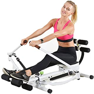 Rowing Machine,Multifunctional Foldable Design Rowing Machine 12-Speed Resistance Adjustment,Rowing Machine for Home Use F...