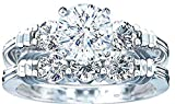 VPKJewelry 2.70 ct Real 925 Sterling Silver Wedding 2 pc Set Diamonique CZ Ring Women's Girls (6.5)