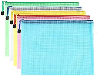 10 pcs/lot Pen bags Gridding Waterproof Zip Bag Document Pen Filing Products Pocket Folder Office & School Supplies Plasti...
