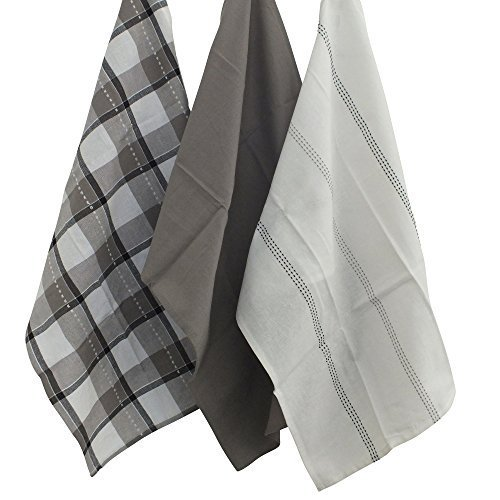 kela, Set di Strofinacci, Grau, 20x10x5 cm