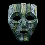 XDDXIAO Cameron Diaz Loki Máscaras de Resina de Halloween Jim Carrey Máscara Veneciana El Dios de la travesura Réplica de Disfraces Accesorios de Disfraces de Cosplay,Verde