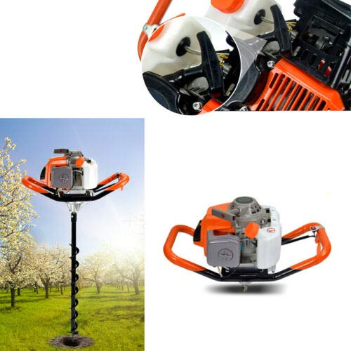 CNCEST Earth Digger Auger Hole Borer Ground Drill Metal Earth Digger 71cc 2HP Gas Post 3200W