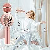 Micrófono de karaoke para niños de 4 a 12 años, juguetes de iluminación para niños, juguetes de música emulados, iluminación divertida, modelo de micrófono inalámbrico, música, juguete luminoso