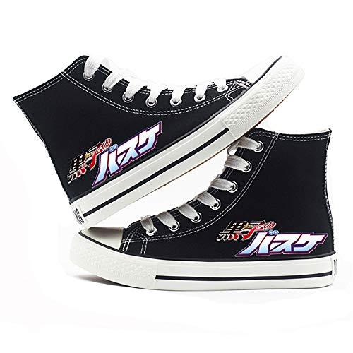 jiushice Kuroko 's Baloncesto, Cosplay zapatos de lona, zapatos unisex para adultos, con cordones, botines informales, zapatos deportivos para gimnasio, color, talla 36 2/3 EU