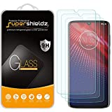 (3 Pack) Supershieldz Designed for Motorola Moto Z4 Tempered Glass Screen Protector, Anti Scratch, Bubble Free
