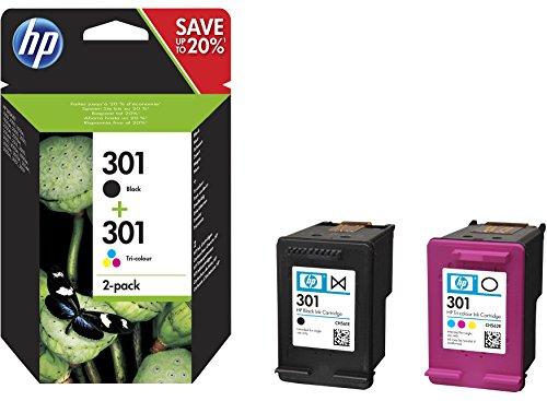 HP Original–HP–Hewlett Packard Envy 4500Series (301/j3m81ae # 301)–2x Cabezal de impresión Multi Pack (Negro, Cian, Magenta, Amarillo)