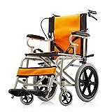 Silla de Ruedas Plegable Ligera Ancianos Gratis Inflable Ultraligero Viaje portátil Conducción Suministros médicos Cómodo