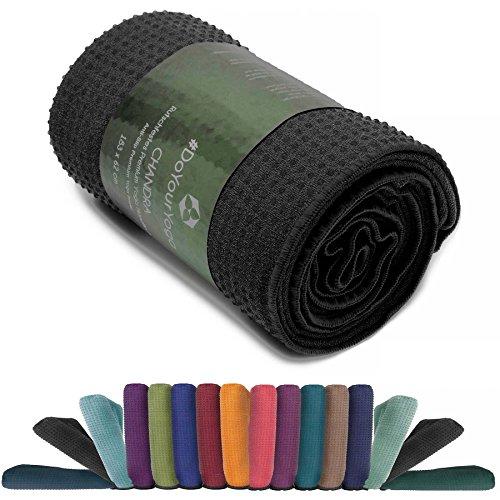 #DoYourYoga premium yoga towel nero (183 x 62 x 0,5 cm)