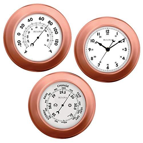 Weather Station - Clock, Barometer and Thermometer - 3 Piece Set Bulova C4829
