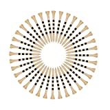 """SAPLIZE Golf Tees Durable Bamboo Tees Pack of 150(2-3/4"""" Available) -Reduce Friction & Side Spin,More Durable & Stable Golf Bamboo Tees"""
