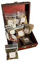 Herb Witchcraft Kit for Making Potions ~ Wiccan herb Starter kit with Wooden Box ~ Witch Apothecary Herbs ~ Magick Ritual Herbs in Bulk