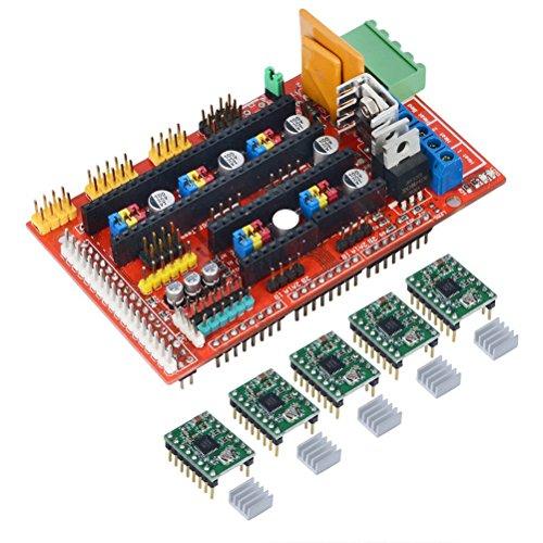 Kit controller LEORX per stampante 3D, scheda di controllo RAMPS 1.4 con 5 driver PCS 4988