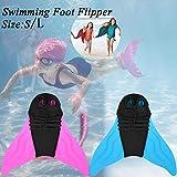 Wuudi Kinder Erwachsene Schwimmflossen Tauchflossen Meerjungfrau Schwanz Flossen Schnorchelflossen Freestyle Schmetterling Backstroke Delphin Kickschwimmen...
