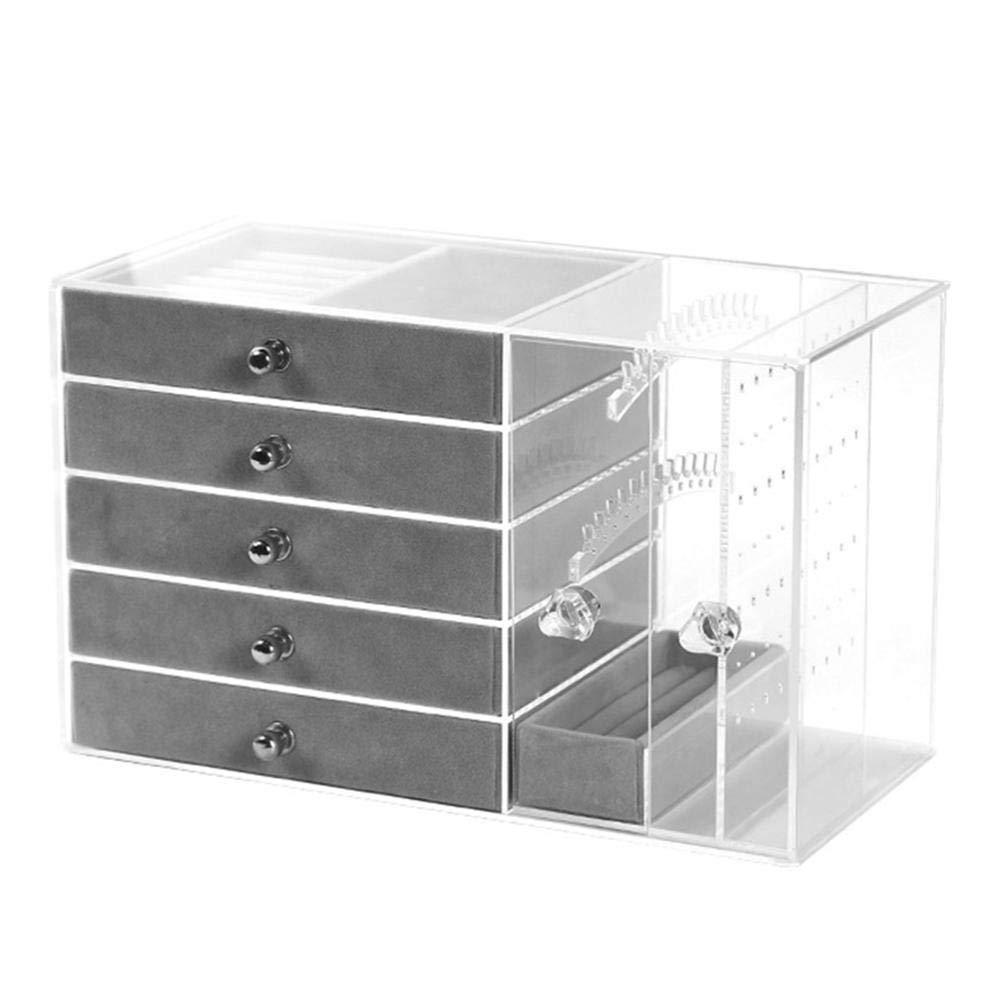 Wood.L Joyero Jewelry Box 5 cajones acrílico Transparente Joyas ...