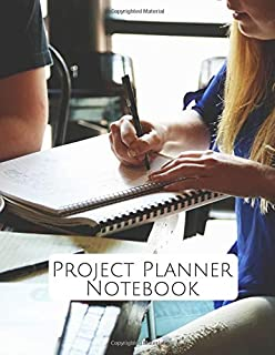 """Project Planner Notebook: Perfect Manager Organizer, Meeting Schedule Attendees, Execution Plans, Cost Control, Make Actions Notes, Follow Up Item, Reminder Notes, 8.5"""" x 11"""". (Project Logs)"""