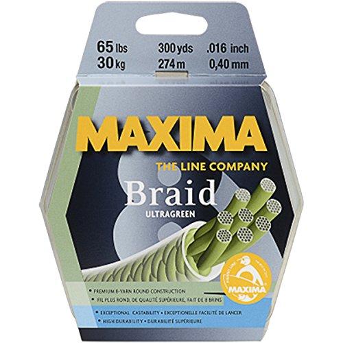 Maxima Braid 8 Fishing Line, 300 Yard Spool, 50 lb. Ultragreen