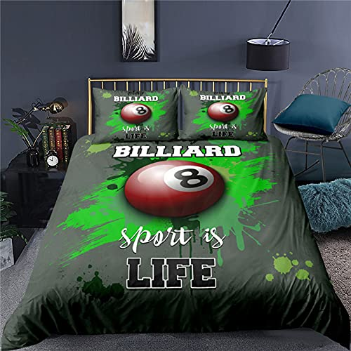 LXTOPN – Juego de cama de baloncesto para 1-2 personas, estilo 3D, diseño de baloncesto con impresión de baloncesto y funda de almohada para niños (A,220 x 240)