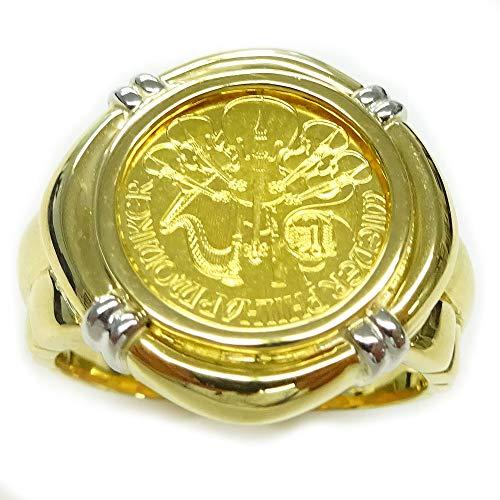 純金ゴールド コインリング ウィーンハーモニー 24金 1/25oz 4euro GOLD999.9 2020年メンズ 指輪 #18号サイズ