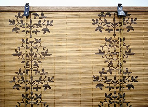 Solagua 6 Modelos 14 Medidas de estores de bambú Cortina de Madera persiana Enrollable (60 x 135 cm, Estampado)