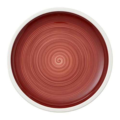Villeroy & Boch Manufacture Rouge Assiette à pain handbemaltes vaisselle en porcelaine Grande Qualité Rouge, 16 cm, blanc, 16 x 16 x 2 cm