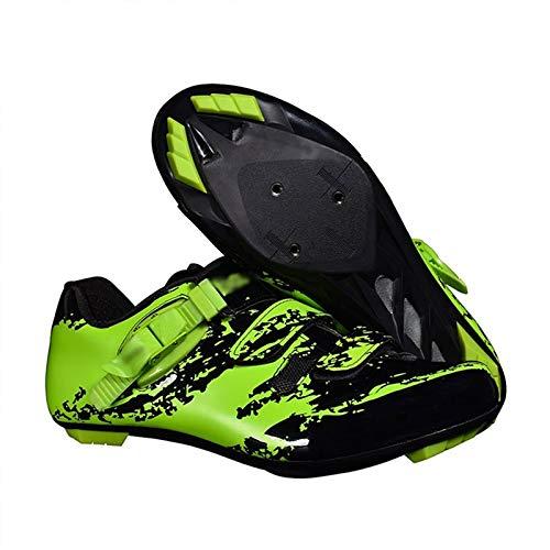 Zapatillas de Ciclismo de Montaña Zapato de Bicicleta Road Lock para Hombre Zapatillas de Cross-Country con Velcro Calzado de Ciclismo Ligero y Transpirable
