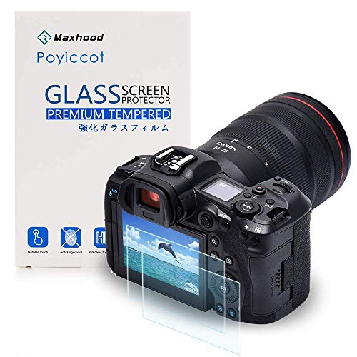 Poyiccot for Canon EOS R5 Screen Protector Tempered Glass, 2Pack 9H HD Scratch Resistant Camera Protective Film Screen Protector for Canon EOS R5 Digital Camera